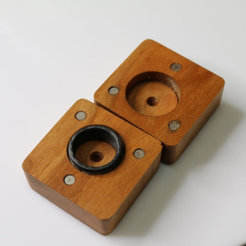 Handmade Wooden Magnetic Ring Box