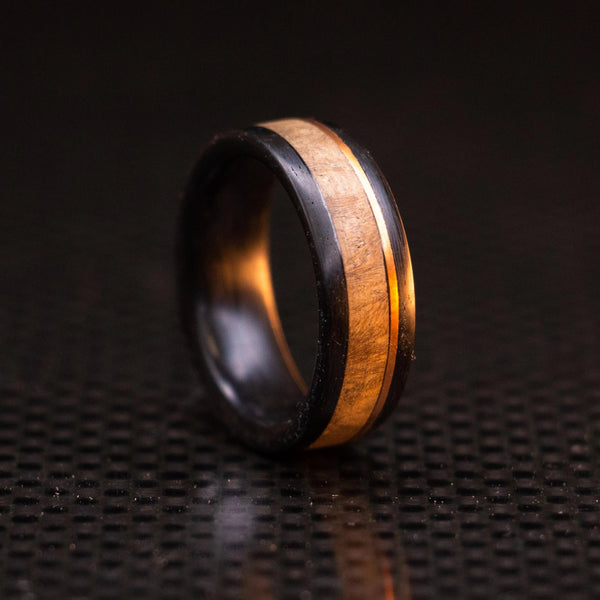 Carbon Fiber, Copper, and Maple Ring