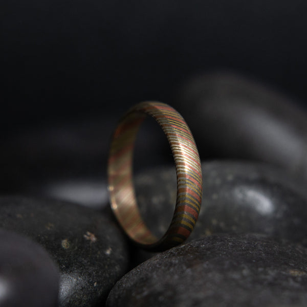 Mokume Gane Stackable Ring - 3 mm