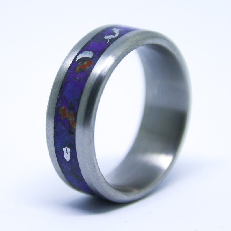 wedding bone rings dyscinitus tungsten with band inlay dinosaur carbide red