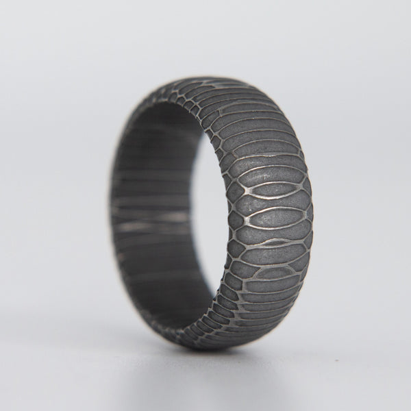 Spirograph Damascus Steel Ring