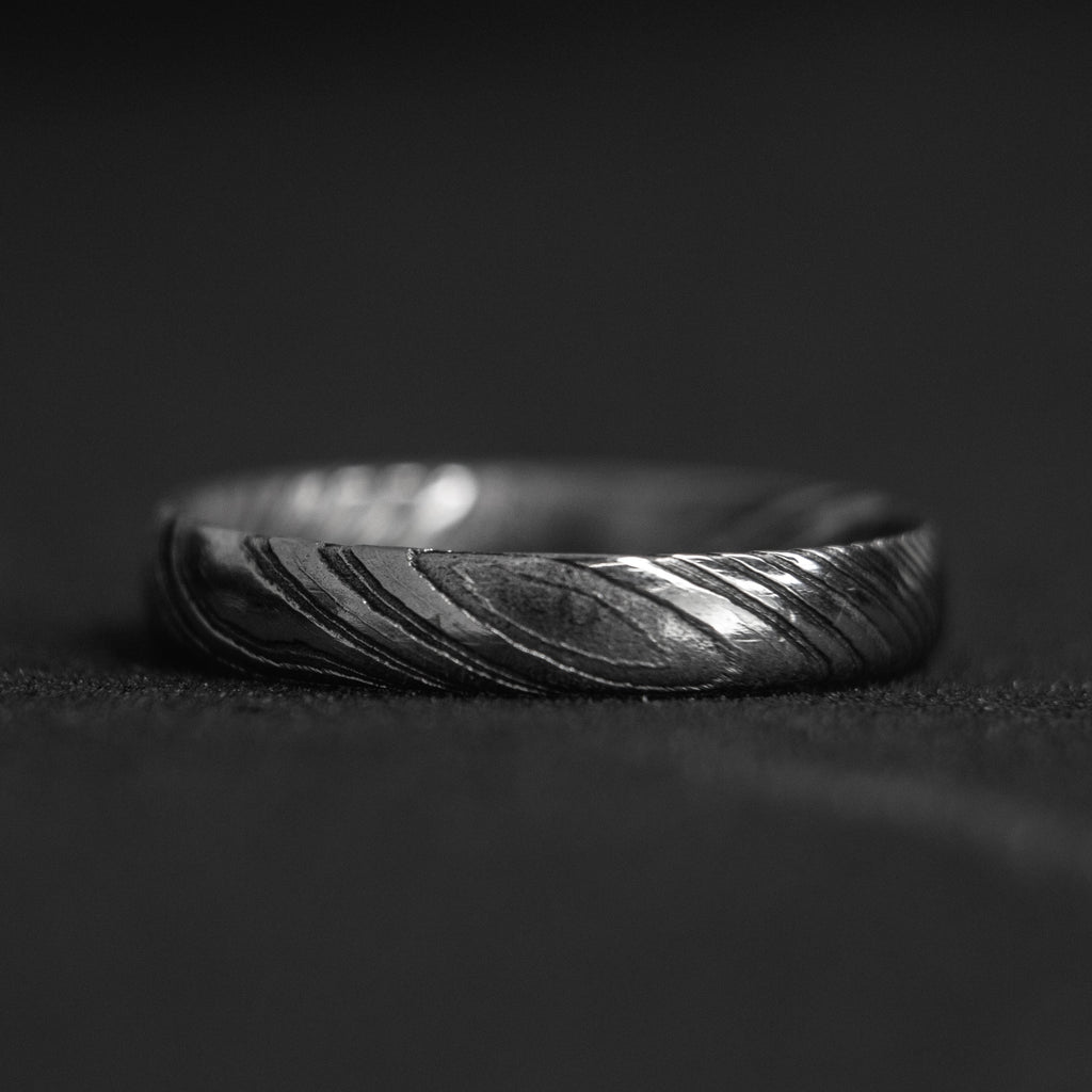 Stackable Damascus Steel Ring