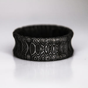 Reptillian Damascus Steel Ring