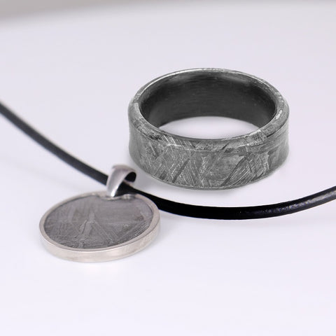 Meteorite Pendant and Ring Bundle