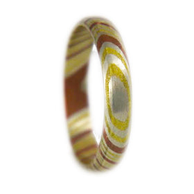 Mokume Gane Stackable Band