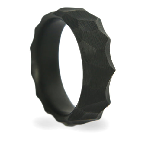 Obsidian Carbon Fiber Ring