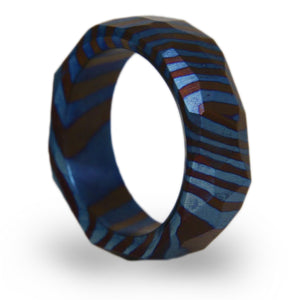 Obsidian Timascus Ring