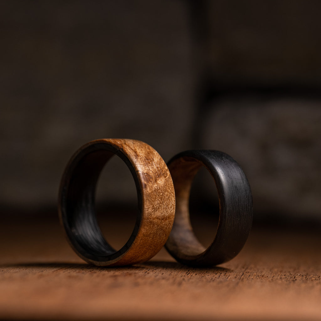 Cherry Carbon Fiber Ring