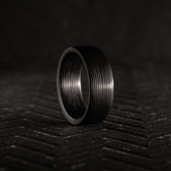 Parallel Cut Carbon Fiber Ring