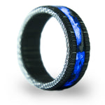 The Serpent - Damascus Steel Glowstone Ring