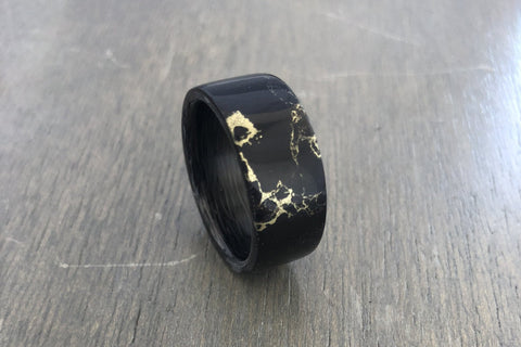 Truestone Carbon Fiber Gold Vein Ring