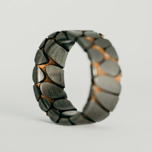 Etched Tilted Superconductor Ring