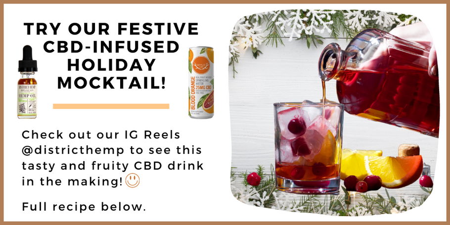 Get the Recipe: CBD-Infused Holiday Mocktail