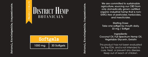 District Hemp Full Spectrum Softgels