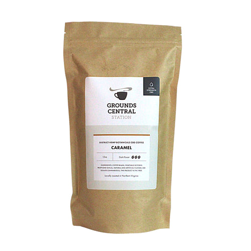 District Hemp CBD Whole Bean Coffee - Caramel