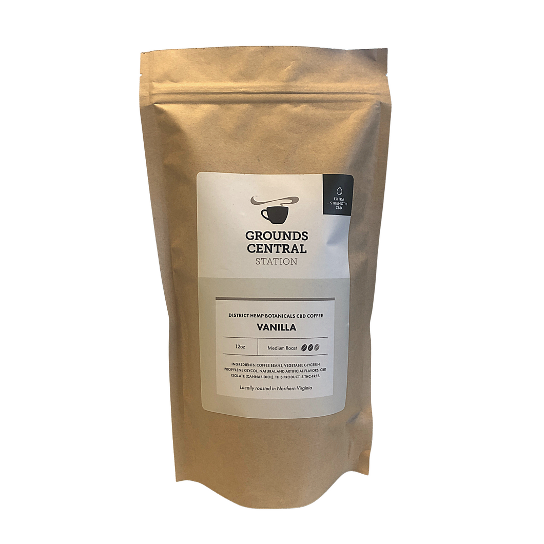 District Hemp CBD Whole Bean Coffee - Vanilla