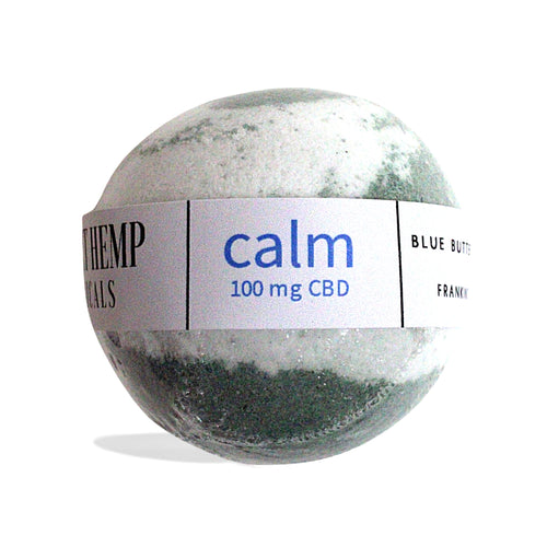 District Hemp Isolate Bath Bomb - Calm (Blue Butterfly Pea Flower)