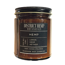 Load image into Gallery viewer, District Hemp + Elegant Scent Candle Co Massage Candles - Hemp