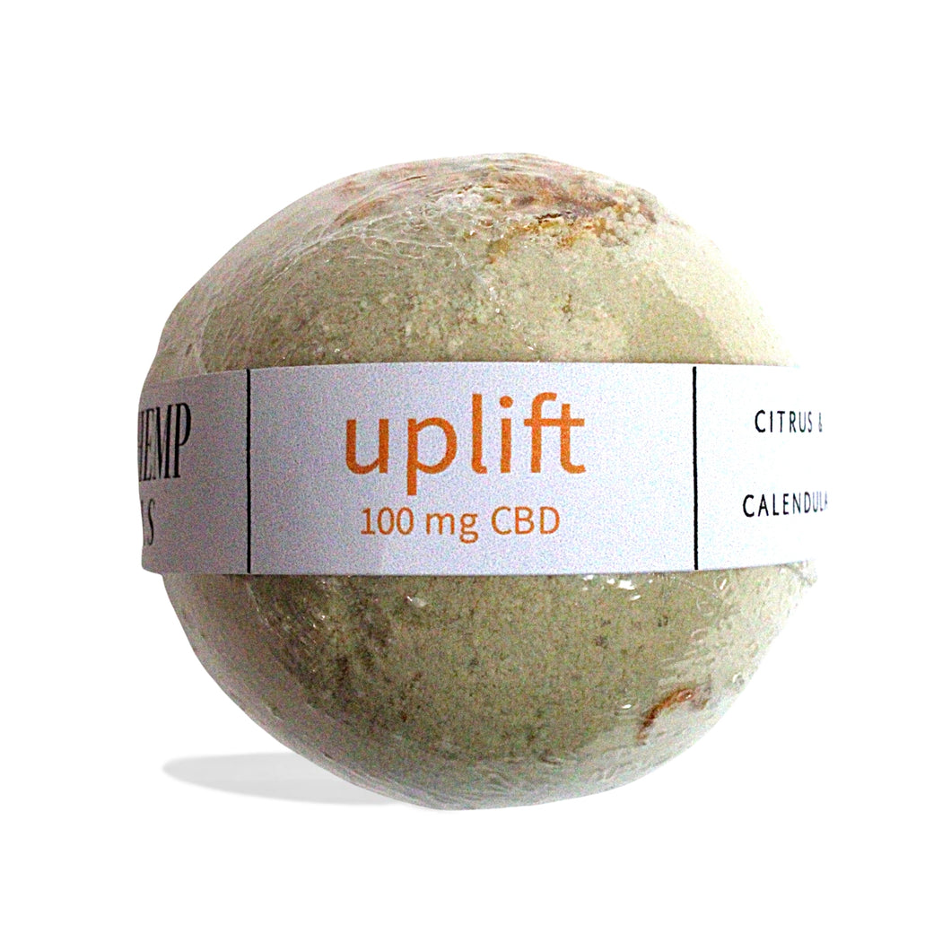 District Hemp Isolate Bath Bomb - Uplift (Citrus)