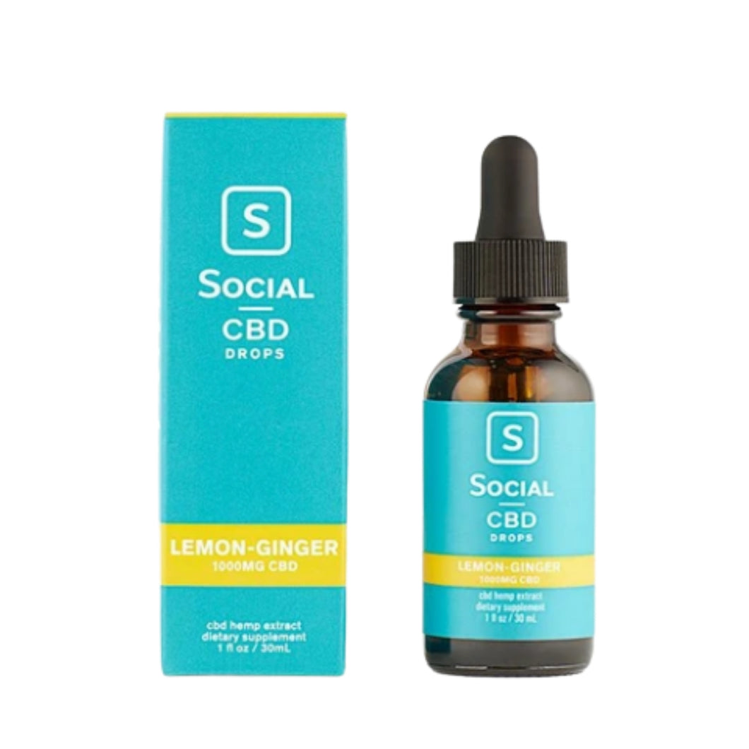 Social CBD - Lemon Ginger CBD Oil at District Hemp Botanicals