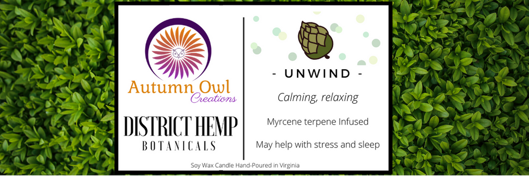 Autumn Owl Creations Terpene Infused Candles - Unwind