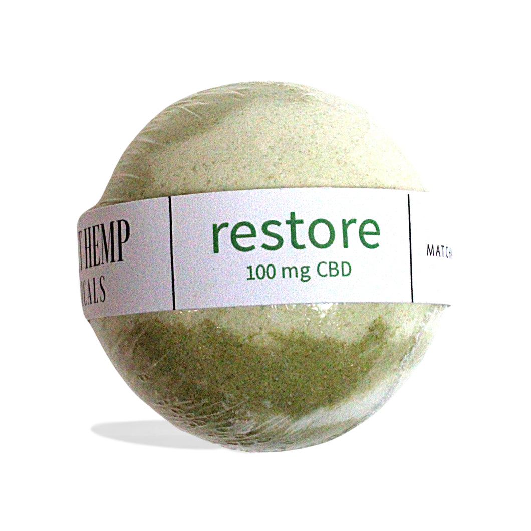 District Hemp CBD Isolate Bath Bomb - Restore (Matcha Green Tea)