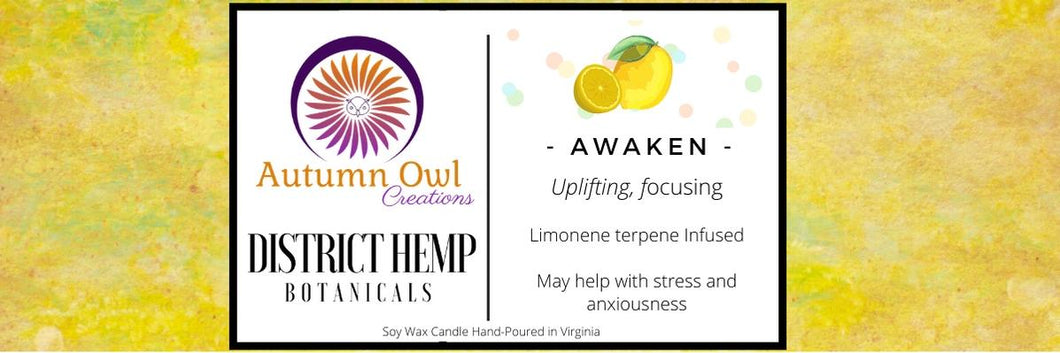 Autumn Owl Creations Terpene Infused Candles - Awaken