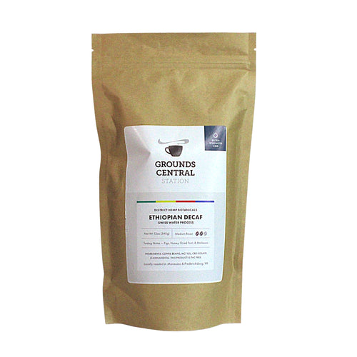 District Hemp CBD Whole Bean Coffee - Ethiopian Decaf