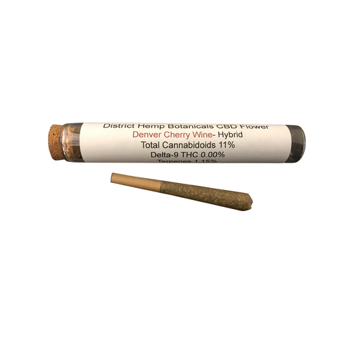 District Hemp - Denver Cherry Wine Hemp Pre-roll
