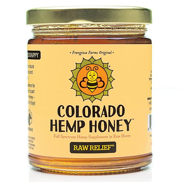Colorado Hemp Honey -  Raw Relief Honey Jar