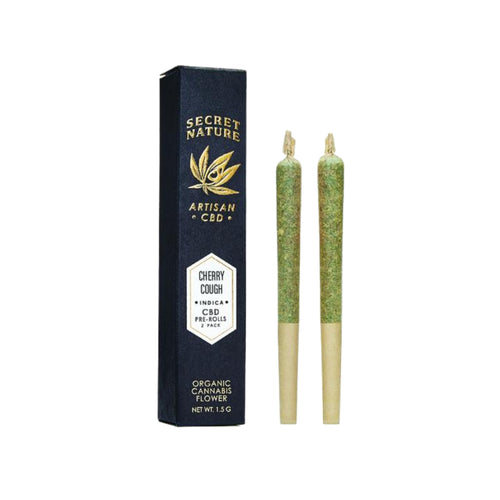 Secret Nature - Cherry Cough Hemp Pre-rolls