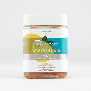Social CBD - Lemon Broad Spectrum CBD Gummies