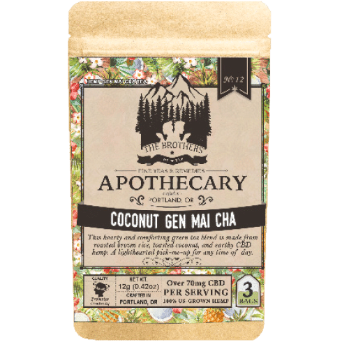 Brother's Apothecary Coconut Genmaicha | Hemp CBD Tea