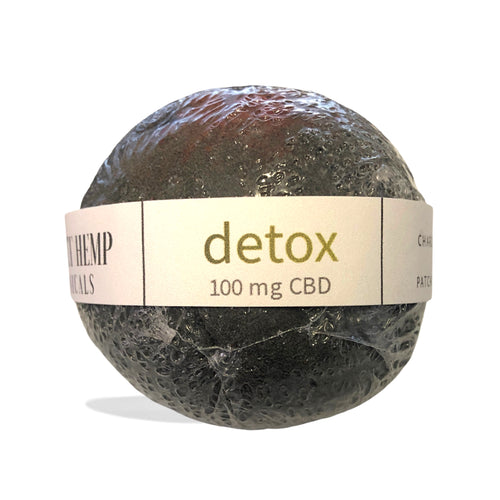 District Hemp Isolate Bath Bomb - Detox (Charcoal Patchouli)