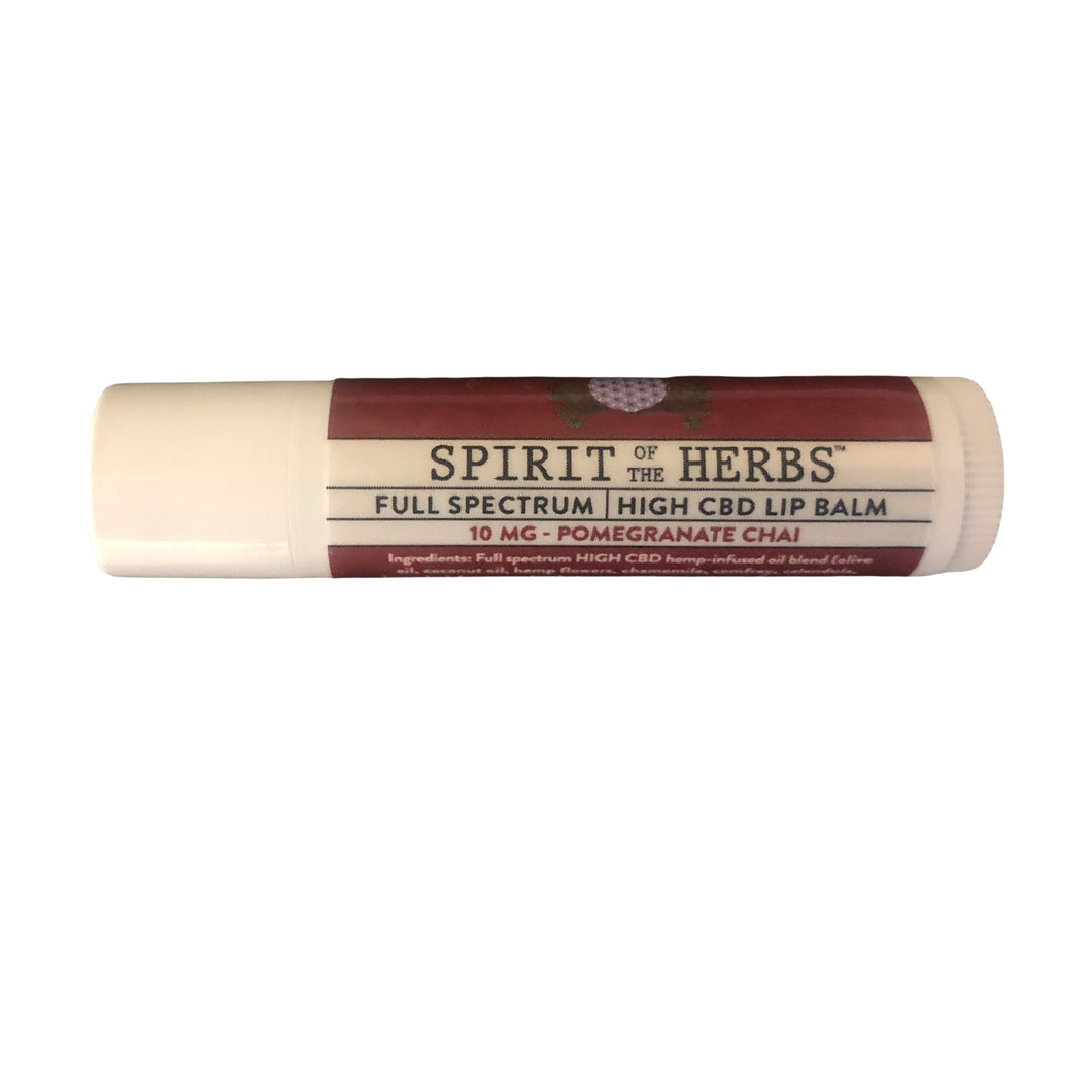 Spirit of the Herbs - Pomegranate Chai Lip Balm