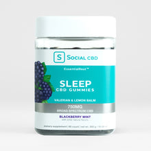 Load image into Gallery viewer, Social CBD - Sleep CBD Gummies Blackberry Mint