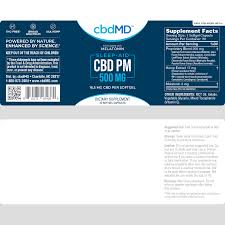 cbdMD CBD PM for Sleep - Capsules
