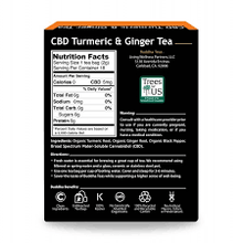 Load image into Gallery viewer, Buddha Teas Turmeric & Ginger CBD Tea