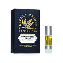 Load image into Gallery viewer, Secret Nature - Lemon Diesel CBD Cartridge