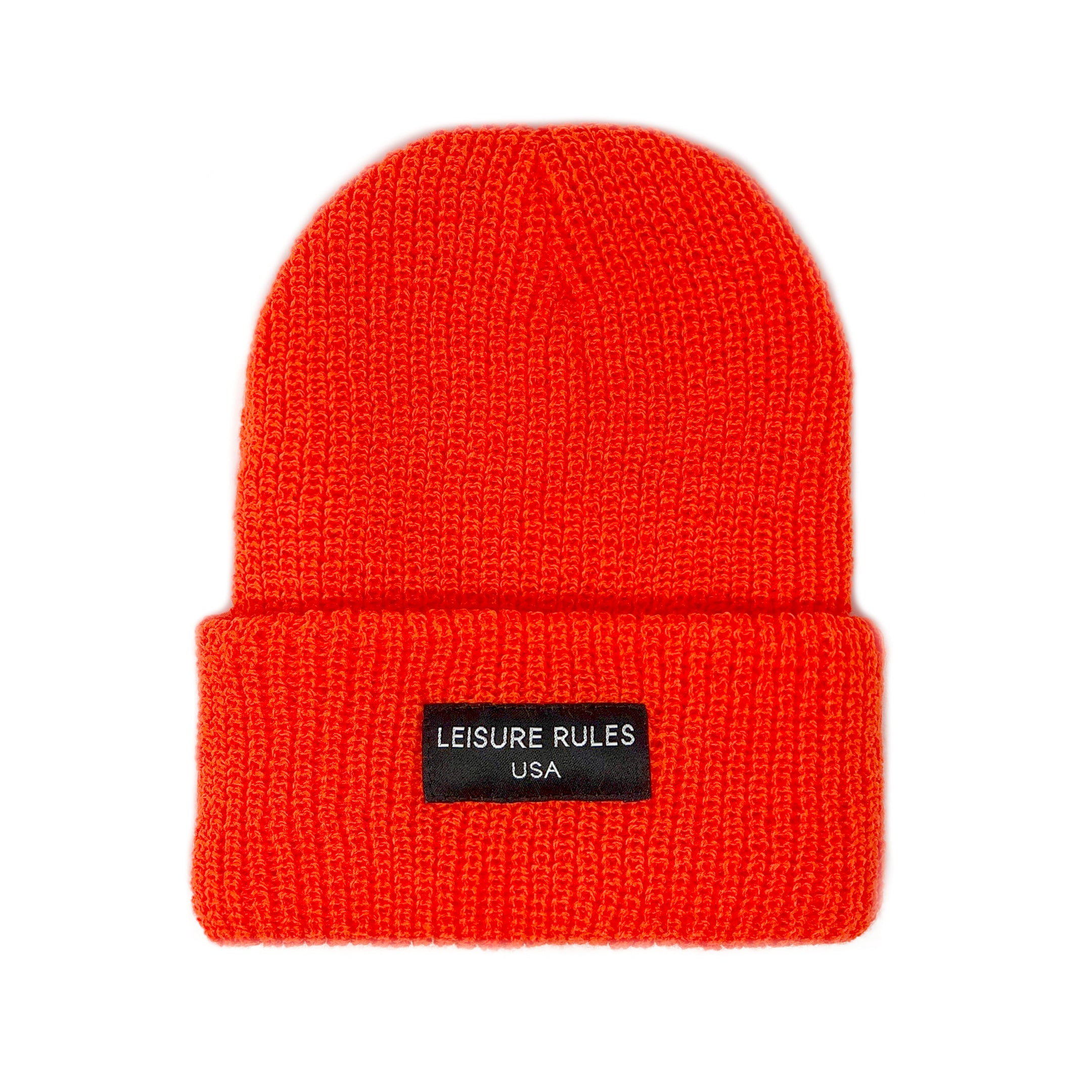 Knit Logo Beanie - Orange