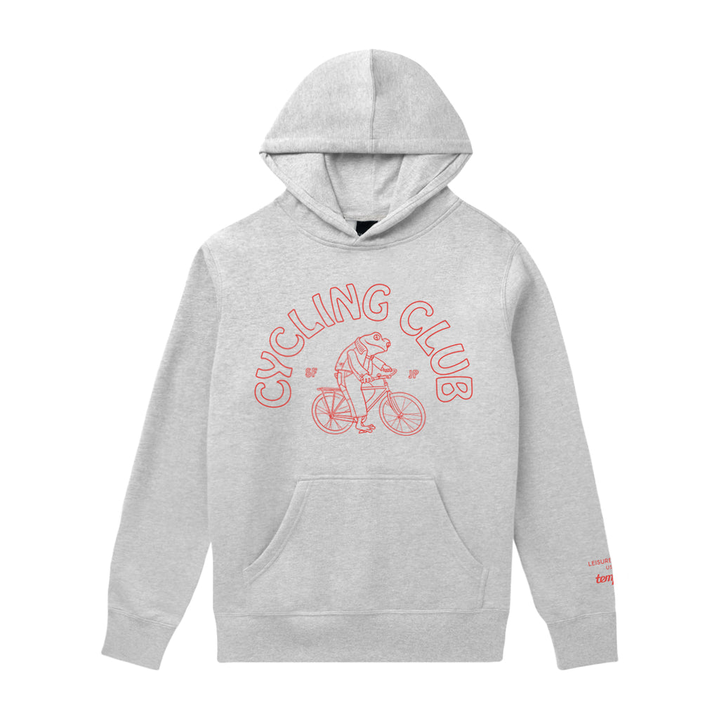 Cycling Club Pullover Hoodie(Made in USA) - Ash