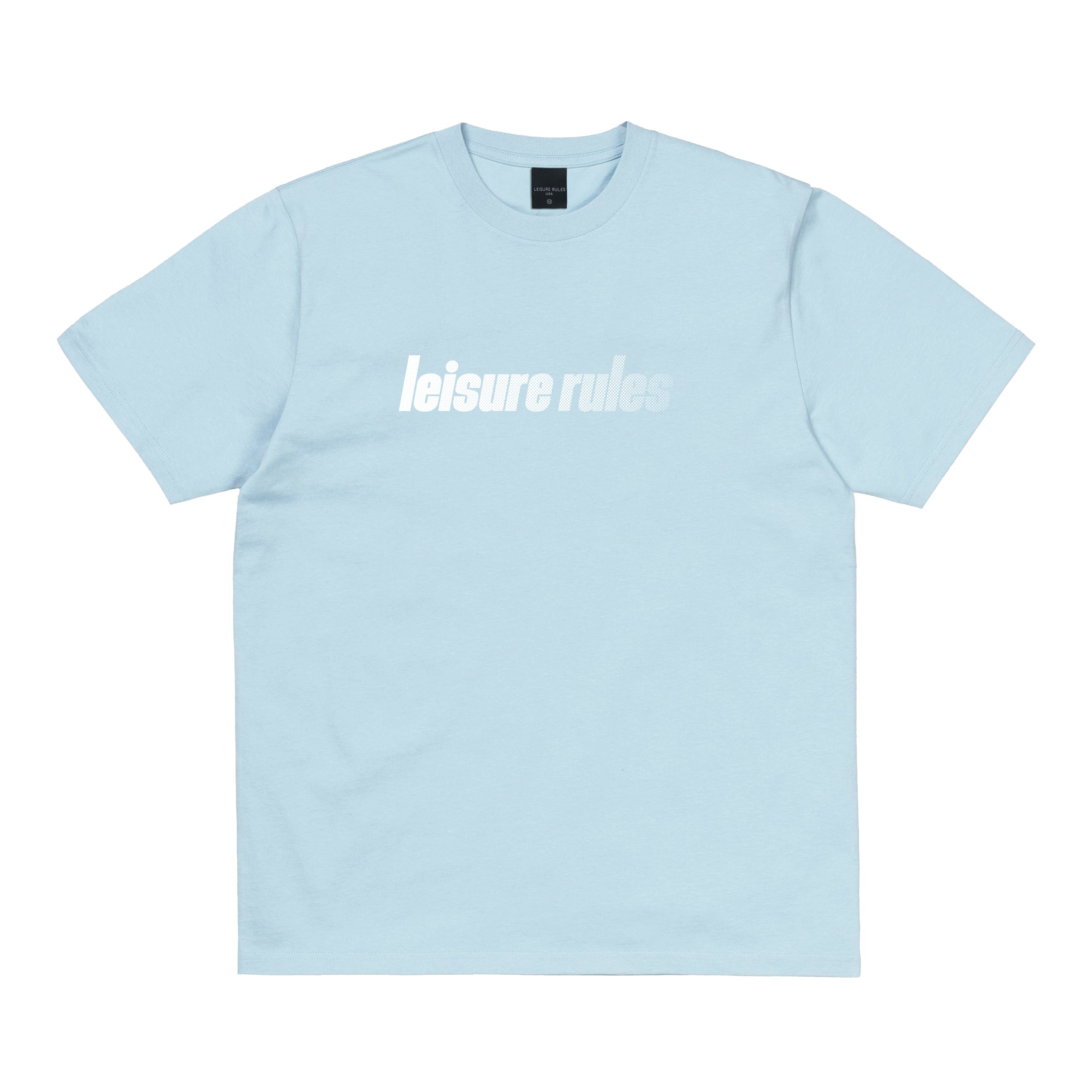 Leisure Rules Sport Logo T-Shirt - Light Blue