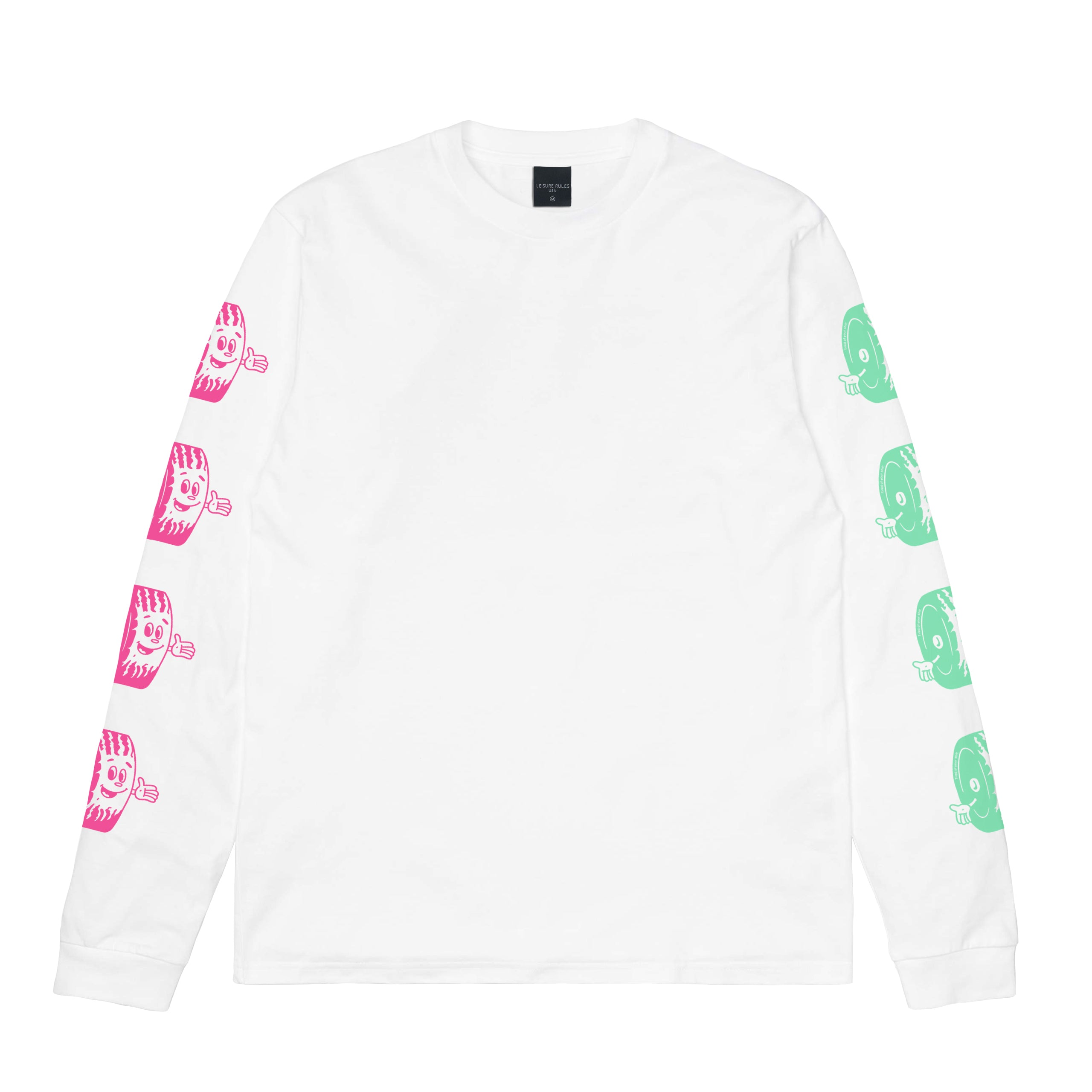 Pit Crew Long Sleeve T-Shirt - White