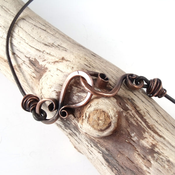 Handcrafted Copper Necklace Clasp