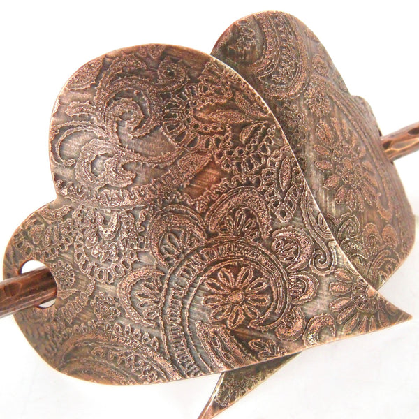 Ginger Mitchell Designs Paisley Hair Barrette