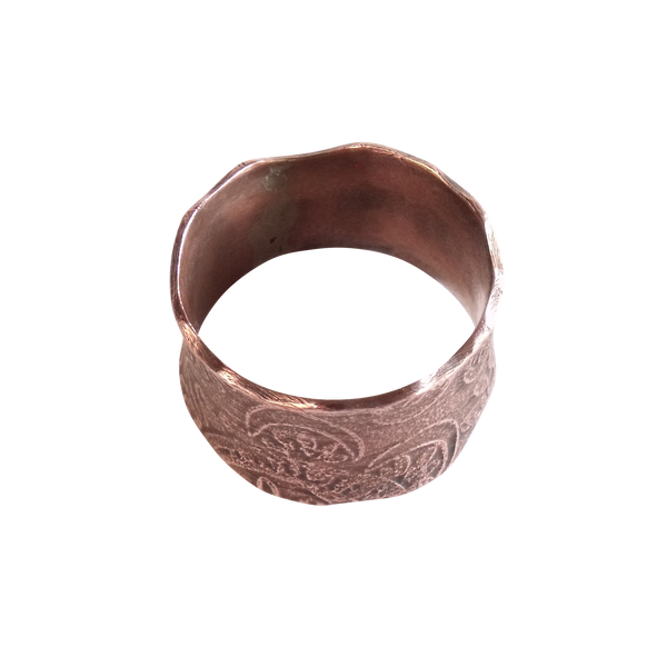 Simple Etched Copper Band