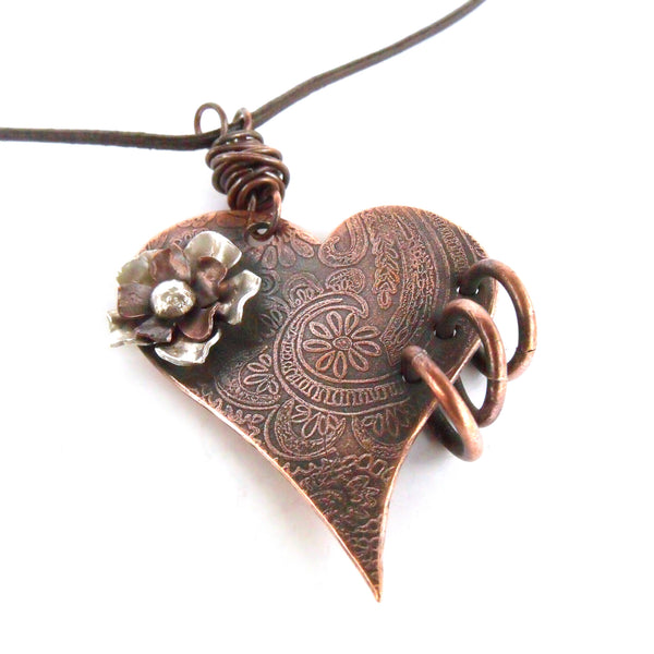 Ginger Mitchell Designs Rock-n-Roll Heart Necklace