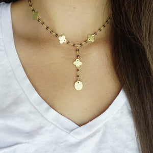 Grey + Gold Necklace