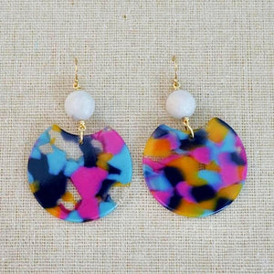 Acrylic Oval Earrings