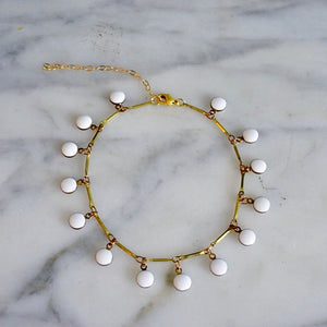 White Bubble Anklet